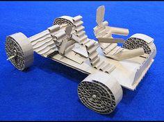 corrugated cardboard car