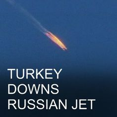 24 NOV: Turkey downs Russian warplane near Syria-Turkey border #Turkey #Russia #Syria #Su24 #RussianPlane Video footage shows the plane crashing into mountains in Latakia province. Reports say the pilots managed to eject. Learn more: bbc.in/turkeySu24 #BBCShorts @BBCNews by bbcnews