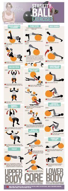 11 #Ejercicios de estabilidad para fortalecer la cintura abdominal con #fitball #ejerciciosparacintura