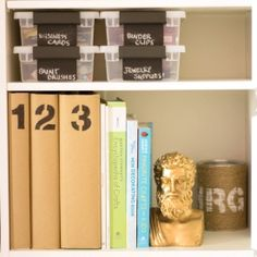 This post is chock full of ideas for storing away all your craft supplies in a functional, chic way!