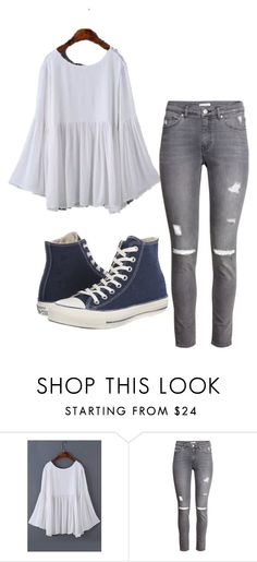 """""""Untitled #170"""" by daqueenoflols ❤ liked on Polyvore featuring H&M and Converse"""