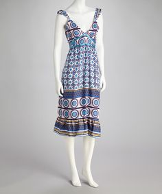 Take a look at this Blue & White Circle Dress by Unity on #zulily today! $9.99, regular 29.00
