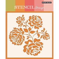 Penny Black - Stencils - Luster: So many ideas will pop into your head of what you can create using the Luster Stencil by Penny Black. The package includes one stencil (template) that is perfect for your Stencil Templates, Stencil Patterns, Stencil Designs, Penny Black, Rose Stencil, Flower Stencils, Stencil Painting, Stenciling, Silk Painting
