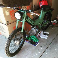Garage - Build: Uncle Ron Triumph Motorcycles, Small Motorcycles, Custom Motorcycles, Puch Moped, Moped Bike, Vespa Scooters, Custom Moped, Custom Bikes, Ducati