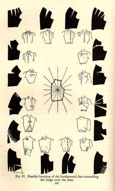 Dart Manipulation Mabel Erwin 'Practical Dress Design' pMabel Erwin 1940 Costume Design Source by LySaKaWelcome to www hannahwroe comPattern Making Fundamentals: Dart manipulation and pivot points (VIDEO)Sleeves one pattern. Many options on finishing Sewing Hacks, Sewing Tutorials, Sewing Projects, Sewing Tips, Techniques Couture, Sewing Techniques, Pattern Cutting, Pattern Making, Diy Clothing