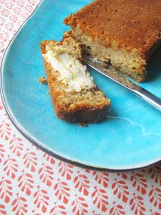 Banana bread with almond cottage cheese