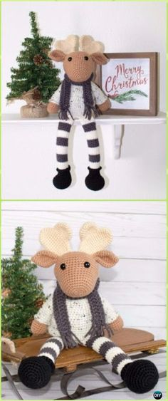 Amigurumi Crochet Christmas Friend Moose Free Pattern - Crochet Moose Free Patterns