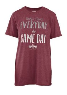 Royce Women's Mississippi State University Everyday Game Day Short Sleeve Tee - Maroon - Xl