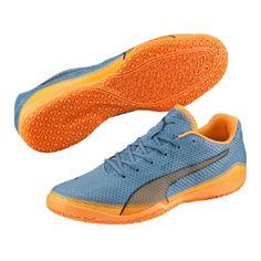 timeless design 943f5 5377b Puma Invicto Fresh Indoor Soccer Shoes (Orange Teal)   SoccerEvolution