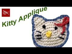 How to Make a Hello Kitty Crochet Applique Crochet Geek - YouTube