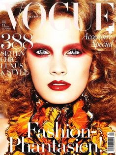 Constance Jablonski on the cover of Vogue Deutsch March 2011 by Alexi Lubomirski