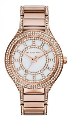 1576ad75d3ce Michael Kors Ladies  Kerry Gold-Tone Mother-of-Pearl Dial Watch