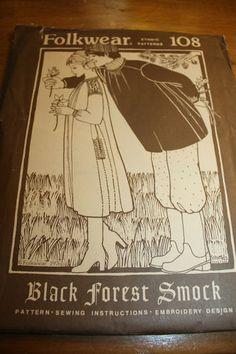 Folkwear Black Forest Smock Pattern 108 #FolkwearPattern108 #BlackForestPattern #VintageSewing #VintagePattern