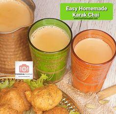 Easy Homemade Karak Chai   Foodeva Marsay Fresh Milk, Fresh Ginger, Masala Tea, Chai Recipe, Sugar Alternatives, Tea Strainer, Milk Cans, How To Make Homemade, Lemon Grass