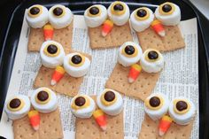 Delicious snacks for an owl party!