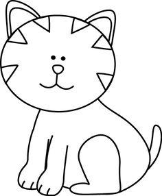 Black and White Kitten Clip Art Black and White Kitten Image Black and white kittens Black and white drawing Clipart black and white
