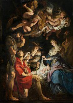 Peter Paul Rubens (1577-1640) Flemish : Adoration Of The Shepherds