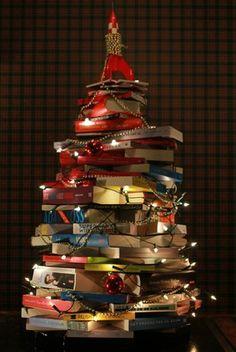 Arvore de natal, com livros !