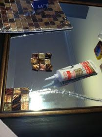 Positively Amy: Thrifty DIY: Cracked Mirror Cover-Up