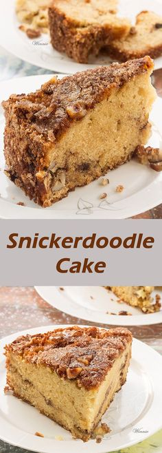 Snickerdoodle Cake  Wonderful rich and moist coffee cake, with cinnamon and pecans, wrapped with sweet crunchy layer.     http://www.winnish.net/2011/10/125/