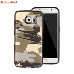 Cover for Samsung Galaxy S6 Case Camouflage PU Leather Silicone TPU Coque for Samsung Galaxy S6 Capa Funda Hoesjes Housse Etui