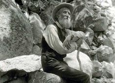 John Muir, a legend who did so much for the national parks. His writing is so amazing in detail you can't help getting lost in his work.