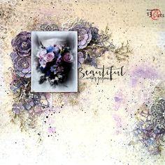 Purple Winter - layout by Anna Rogalska