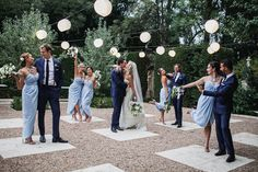Destination Spring Wedding in Shades of Blue Light blue dresses and navy suits Photography : Lifestories Wedding Read More on SMP: www. Blue Tux Wedding, Periwinkle Wedding, Wedding Colors, Wedding Ideas, Navy Spring Wedding, Diy Wedding, Wedding Cake, Wedding Stuff, Wedding Inspiration