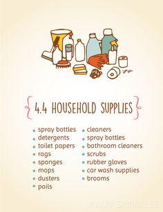 Konmari Category 4.4 Household Supplies