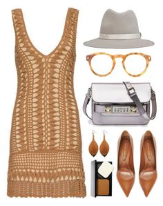 """""""Melissa Odabash Alexis Crochet Dress"""" by thestyleartisan ❤ liked on Polyvore featuring Melissa Odabash, Sergio Rossi, rag & bone, Illesteva, Proenza Schouler and Bobbi Brown Cosmetics"""