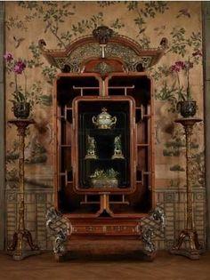 Edouard Lievre, Grand cabinet formant vitrine, Paris, vers 1881-1886. (c) Galerie Steinitz