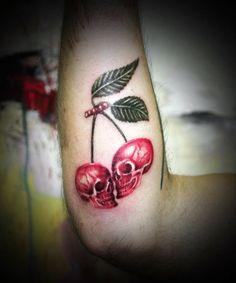 Cherry Skull Tattoo