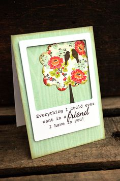A Friend In You Card by Jess Witty for Papertrey Ink (July 2012)