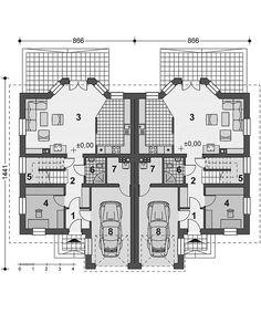 Projekt domu Trivento Termo 121,94 m2 - koszt budowy 175 tys. zł - EXTRADOM Floor Plans, Mountain, Flooring, How To Plan, House, Architecture, Home, Wood Flooring, Homes