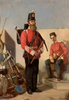 William Powell Frith, 22nd Cheshire Regiment of Foot Pioneer, c.1858, Oil on board, 35,5 x 23 cm, Cheshire Military Museum, Chester