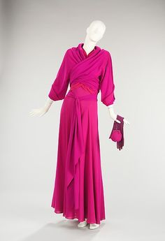 Madeleine Vionnet (French, 1876–1975). Evening ensemble, 1935. The Metropolitan Museum of Art, New York. Brooklyn Museum Costume Collection at The Metropolitan Museum of Art, Gift of the Brooklyn Museum, 2009; Gift of Mrs. James Johnson Sweeney, 1968 (2009.300.459a–g) | This evening ensemble displays a wonderful use of tonal colors.