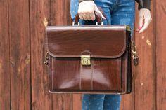 by viveo Briefcase Women, Leather Briefcase, Shoulder Strap, Grains, Decoration, Bag, Etsy, Vintage, Decor