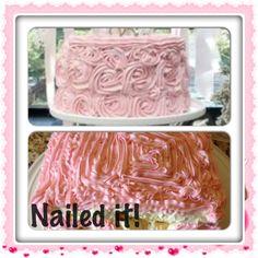 Pinterest failed attempts, birthday cake