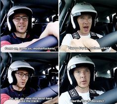 Tom and Benedict on Top Gear