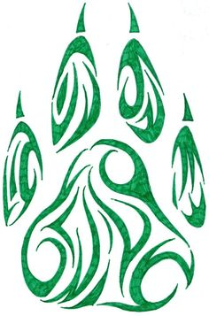Free Tattoo Designs to Print | Pawprint tribal tattoo design by *Cherry-Cheese-Cake on deviantART