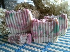 Strawberries n Cream hot process soap ~ Nature's Comfort Soap Co.