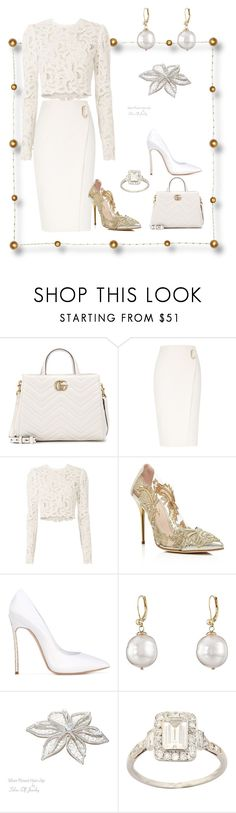 A fashion look from November 2017 featuring lace shirt, wrap skirts and gold pumps. Browse and shop related looks. Casual Work Outfits, Chic Outfits, Fashion Outfits, Womens Fashion, Off White Fashion, Look Fashion, Elegantes Outfit, Young Fashion, Event Dresses
