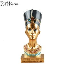 Ancient Egyptian King Rameses Exclusive Handmade Sculpture Desktop Bust