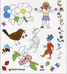 Cute Drawings For Kids, Drawing For Kids, Art For Kids, Graph Paper Drawings, Graph Paper Art, Drawing Lessons, Art Lessons, Blackwork, Pixel Art