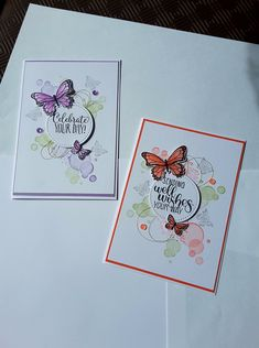 stampin up cards with butterfly Butterfly Cards Handmade, Greeting Cards Handmade, Butterfly Crafts, Stampin Up Anleitung, Karten Diy, Stamping Up Cards, Get Well Cards, Tampons, Card Sketches