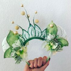 Once Upon A Dream Pieces custom made Tiana ears...for me!!