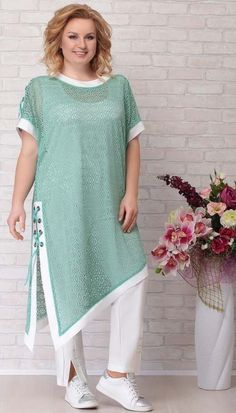 A collection of women's clothing of large sizes of the Belarusian company Aira Style summer 2019 Winter Mode Outfits, Winter Fashion Outfits, Fashion Dresses, Outfit Winter, Fashion 2018, Party Fashion, Kurta Designs Women, Blouse Designs, Pakistani Dresses Casual