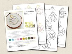 Kitschy Christmas Baubles Pattern PDF for Hand by wildolive