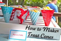 Great idea for serving homemade Popcorn! 25 DIY Ideas for an Outdoor Movie Night