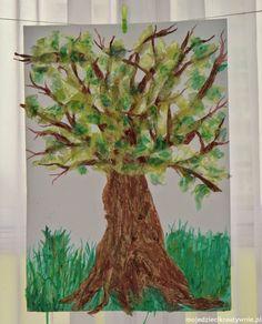 Moje Dzieci Kreatywnie: Wiosenne drzewko